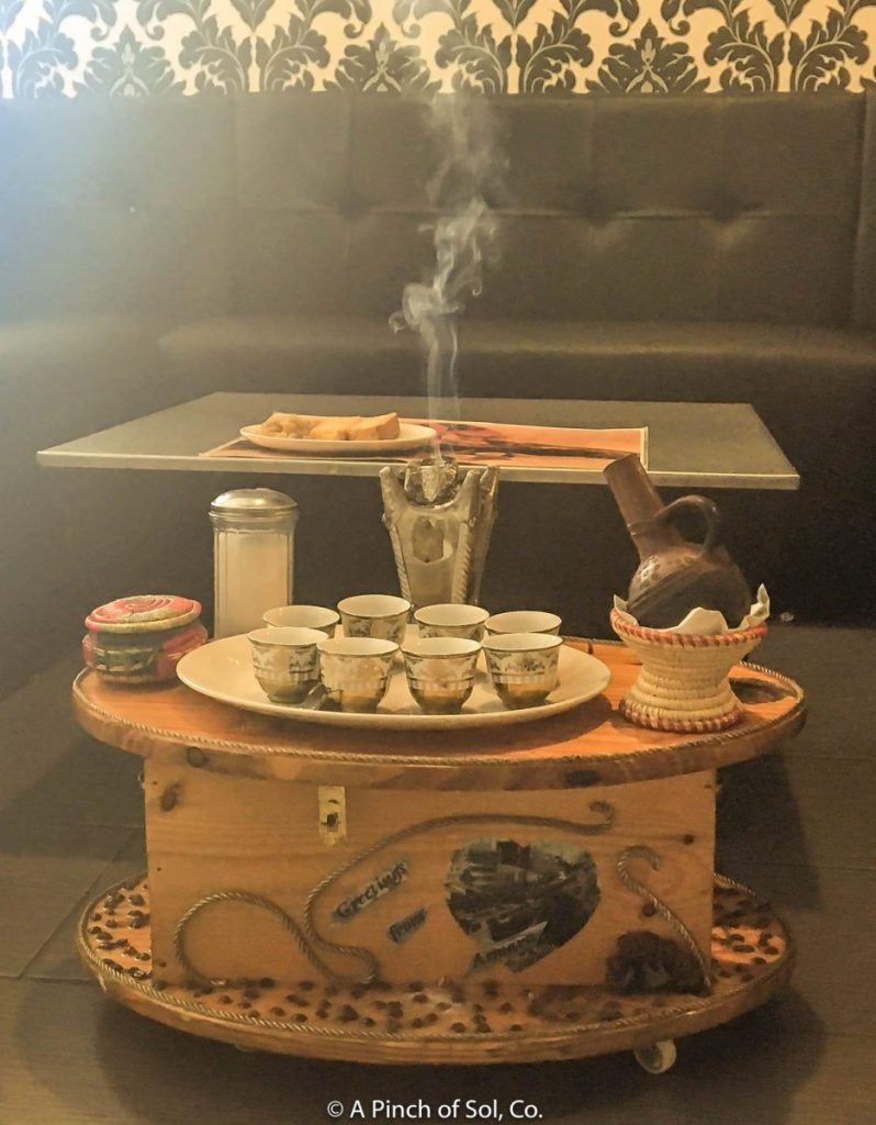 Coffee Ceremony Table