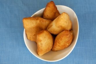Bowl of mandazi