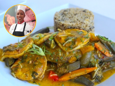 Dacyion Reid's snapper and shrimp from Dacy's Gourmet Kitchen