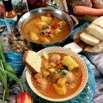 wide shot Bahamian Stew Chicken by Raquel Fox