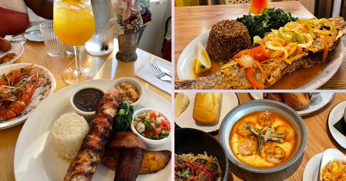 a collage of different birghtly coloured food pictures